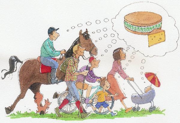 Randonnée des fruitières, à pied, à vélo, à cheval : Cette année le départ était donné de La Rivière-Drugeon.jpeg