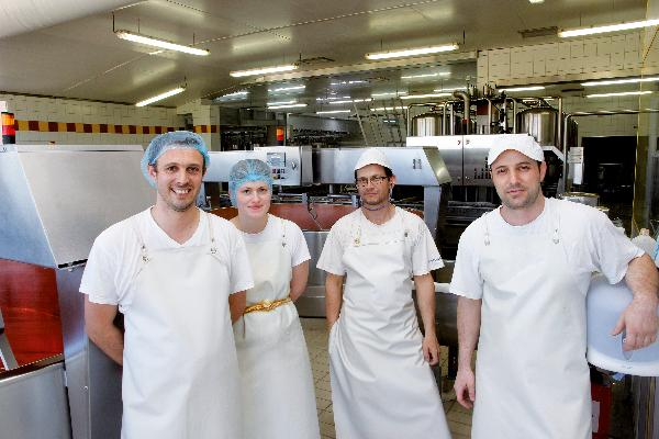 Jean-Xavier Albesa avec Océane Marguier, Jean Saulnier et Sébastien Ruffinoni.