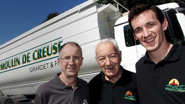 Pierre-Alain Girardet, avec son grand-père et son père.